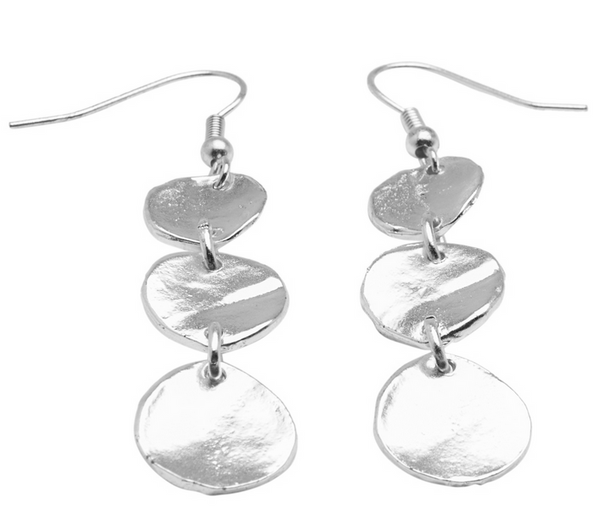 Medallions Dangle Earrings silver