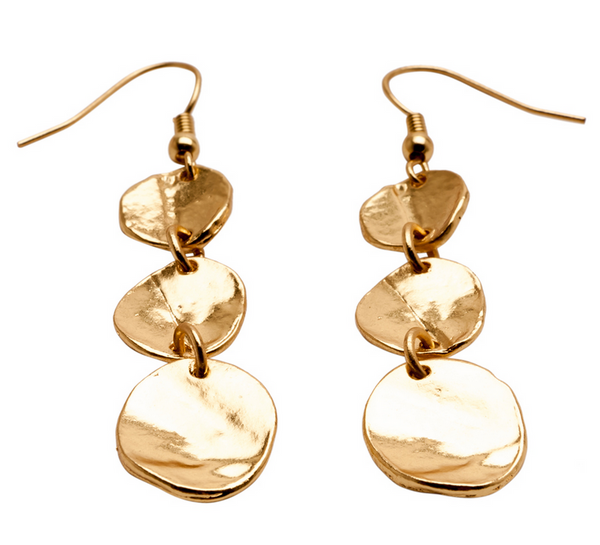 Medallions Dangle Earrings gold