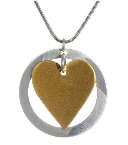 Heart and Circle Pendant