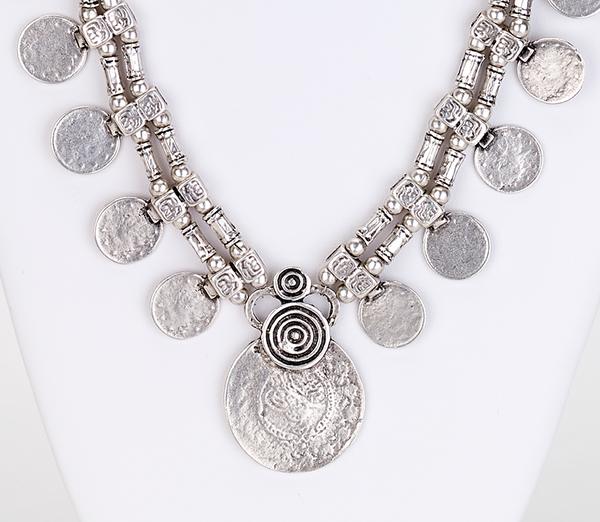 Multi Coin Bohemian Necklace zoom