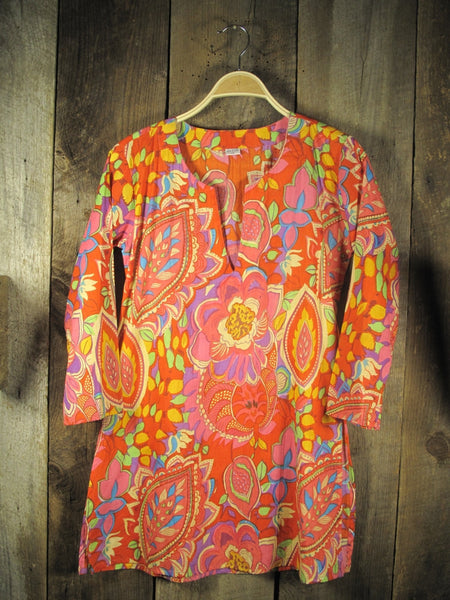 Multi Color Cotton Tunic Top