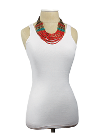Multi Line Bar Beaded Necklace model