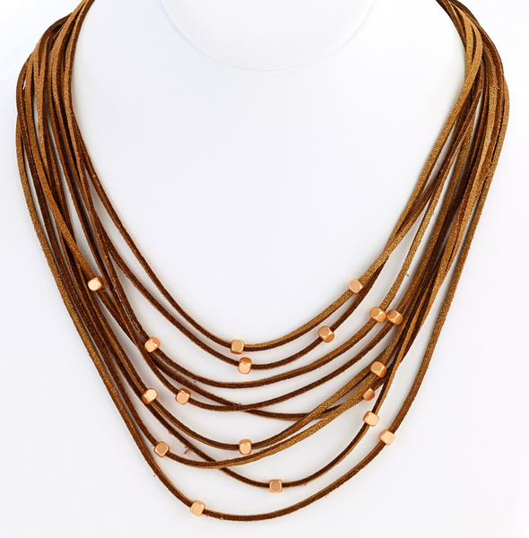 Multi Strand Suede Necklace