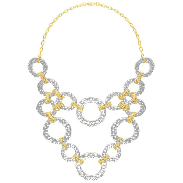 Naelle Two Tone Necklace silver