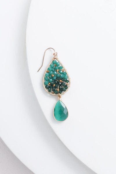 Nakamol Emerald Teardrop Earrings