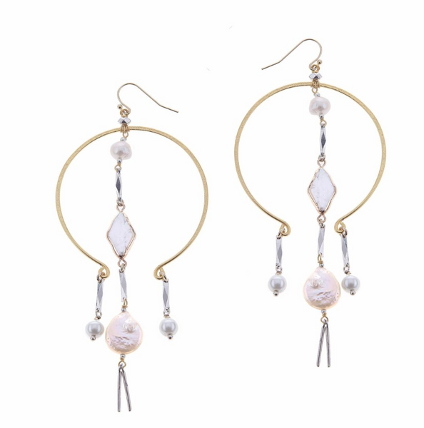 Nakamol MOP Geo Drop Earrings