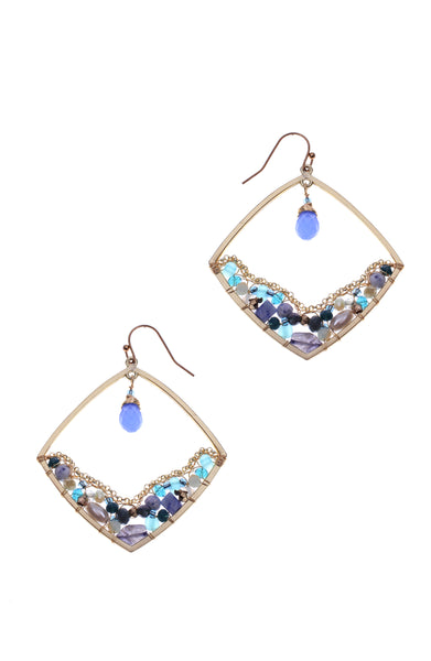 Nakamol Blue Drop Earrings