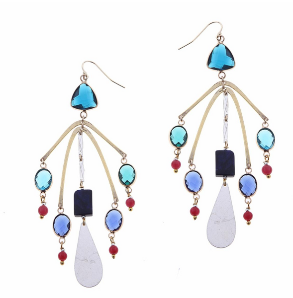 Nakamol Bright Multi Chandelier Earrings