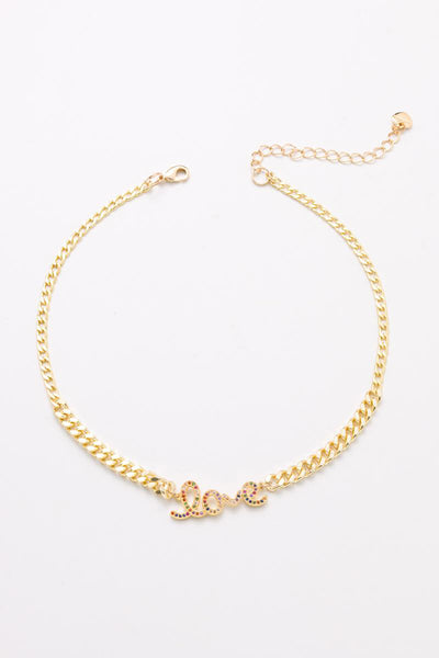 Nakamol Love Link Chain Necklace