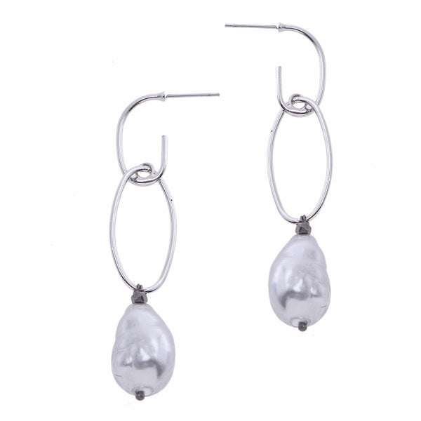 Nakamol Regina Pearl Earrings