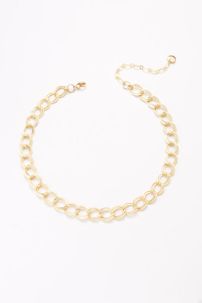 Nakamol Textured Combo Link Chain Necklace