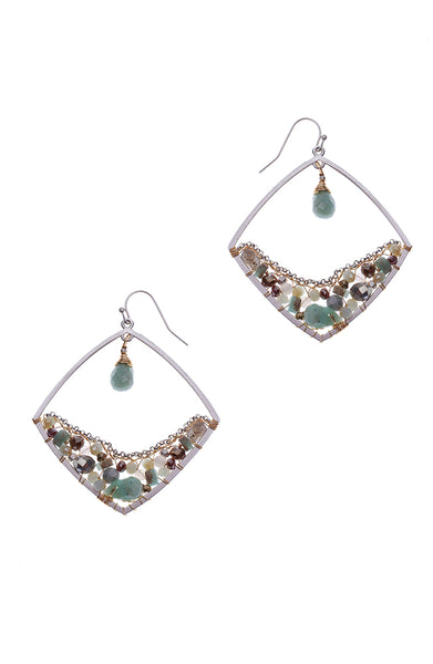 Nakamol Amazonite Mint Drop Earrings