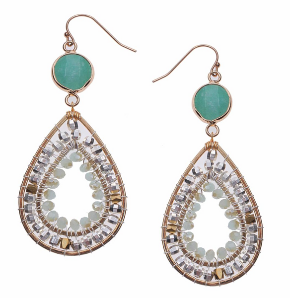 Nakamol Jade Teardrop Earrings