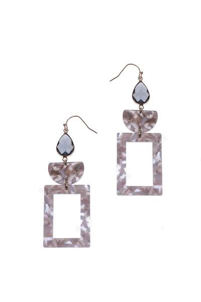 Nakamol Tortoise Stone Drop Earrings
