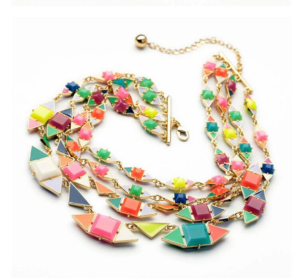 Neo Mod Multi-Strand Statement Necklace