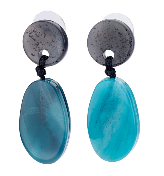 Ocean Resin Drop Earrings