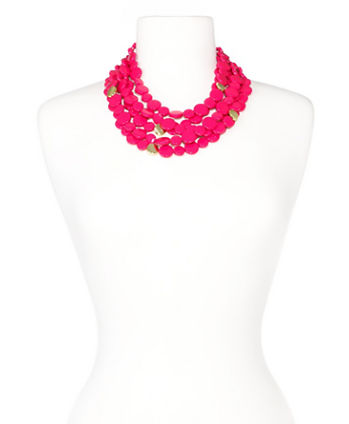 Oh My Dots! Beaded Necklace pink