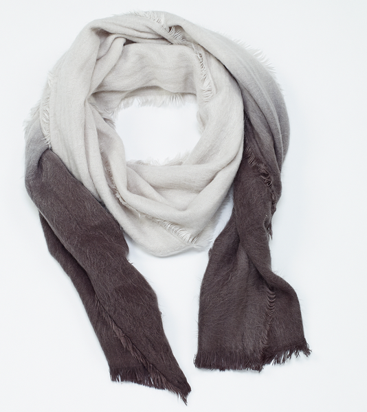Ombre Soft Scarf Gray