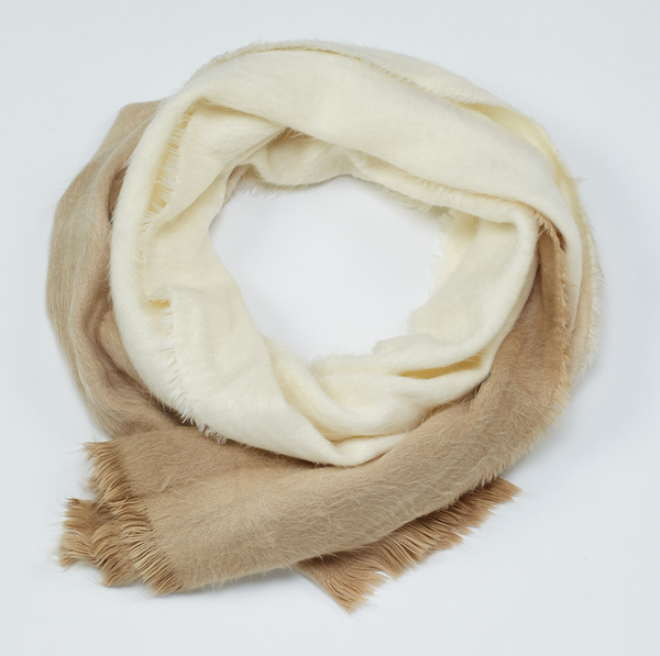 Ombre Soft Scarf Beige