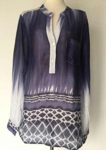 Ombre Tunic Top in Navy
