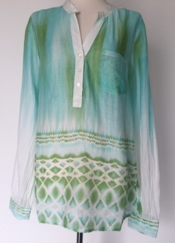 Ombre Tunic Top in Green