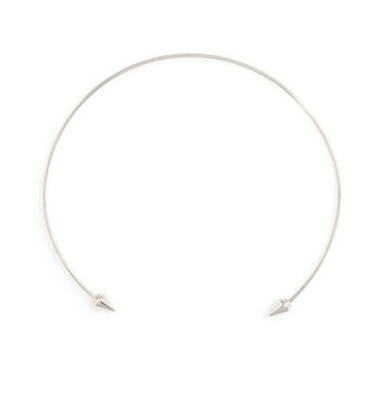 Open Front Choker in Silver