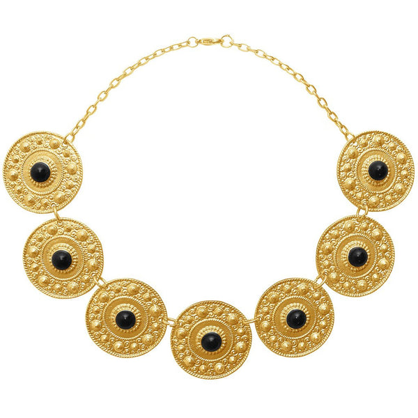 Ornamental Coins Collar Necklace gold