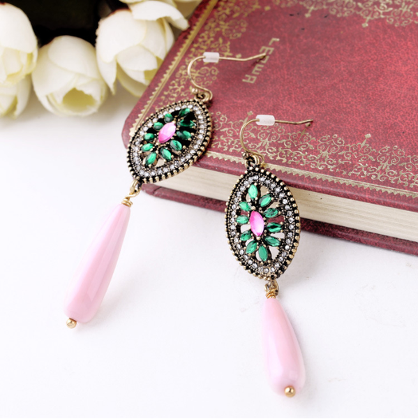 Pastel Pink Teardrop Earrings
