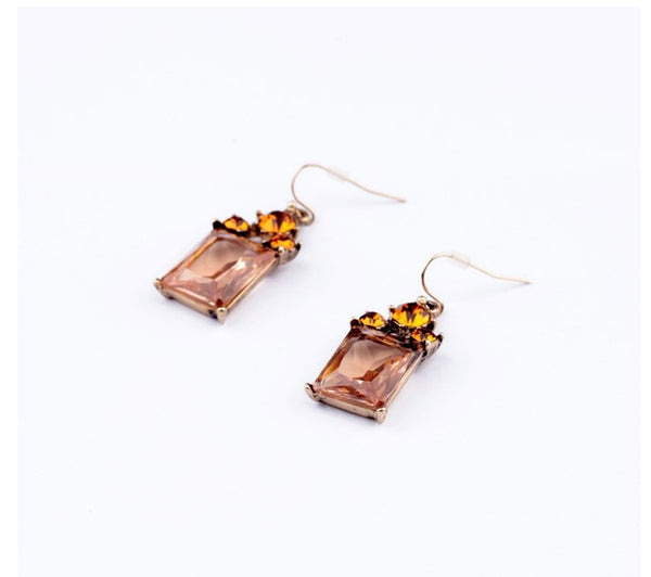 Amber Drop Earrings side
