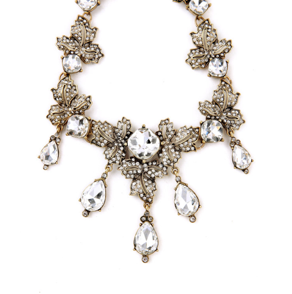 Pave Crystals Statement Necklace