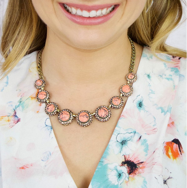 Peachy Statement Necklace