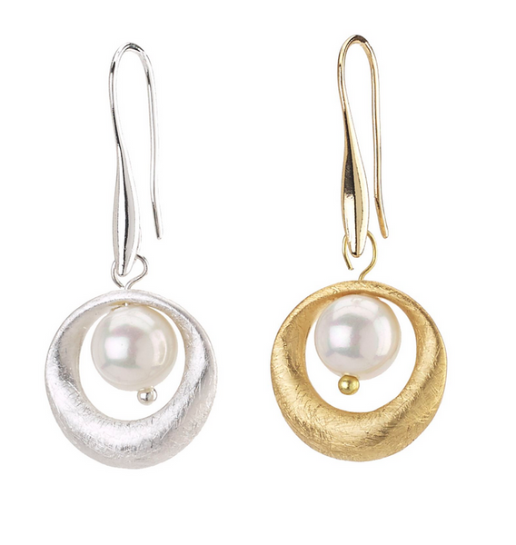 Pearl Inner Target Earrings
