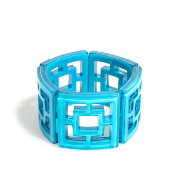 Peeking Through Bracelet blue