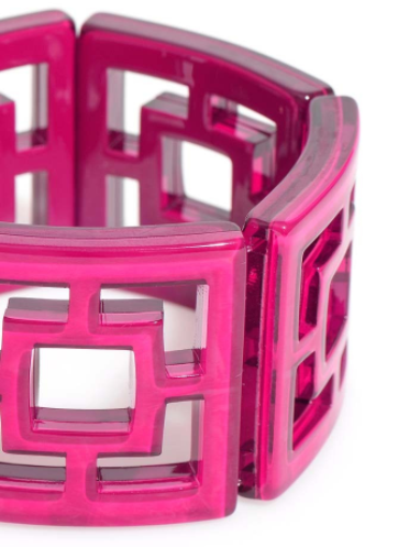 Peeking Through Bracelet hot pink