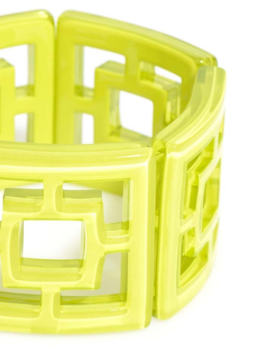 Peeking Through Bracelet lime