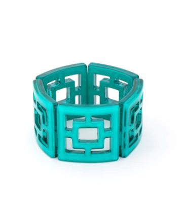 Peeking Through Bracelet teal
