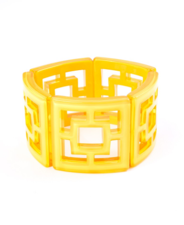 Peeking Through Bracelet yellow