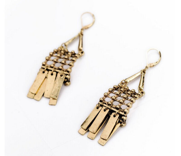 Persian Fringe Drop Earrings side