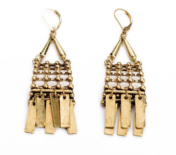 Persian Fringe Drop Earrings