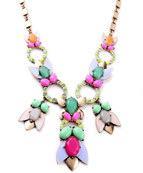 Pretty Petals Statement Necklace