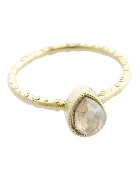 swarovski crystal gold ring