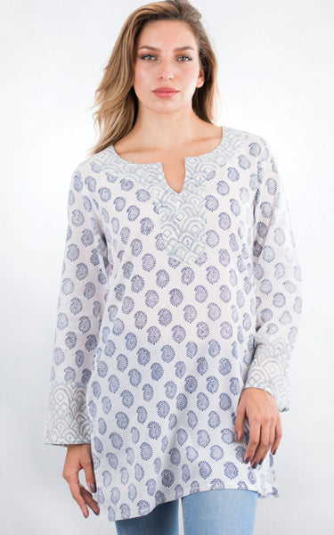 Rani Printed Cotton Tunic Top