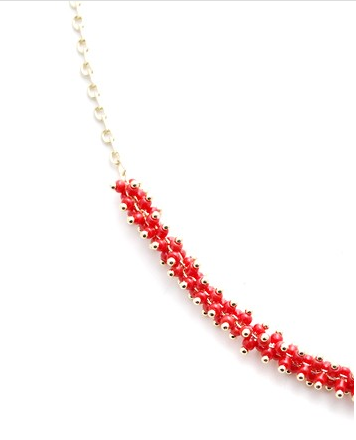 Red Bead and Chain Choker zoom