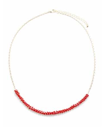 Red Bead and Chain Choker
