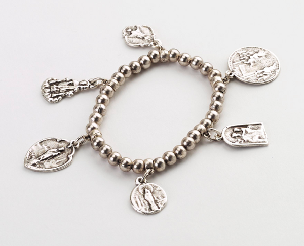 Religious Charms Stretch Bracelet
