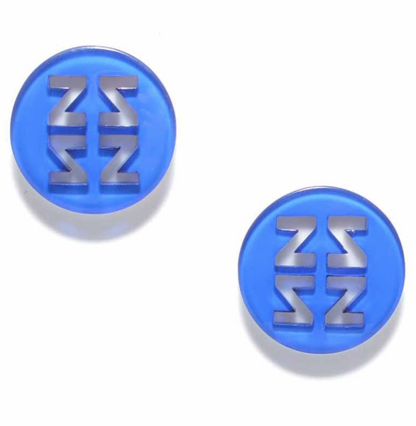 Resin Stud Earrings blue