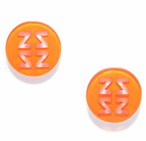 Resin Stud Earrings orange