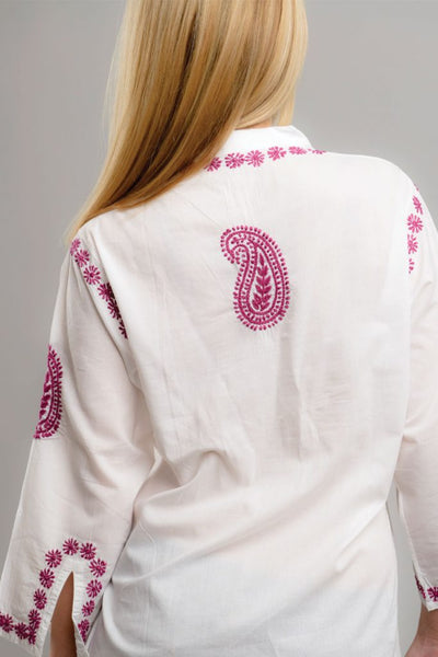 Karishma Embroidered Tunic Top back