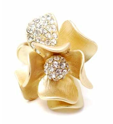 Ring - Steel Magnolias Ring - Girl Intuitive - Zenzii - gold