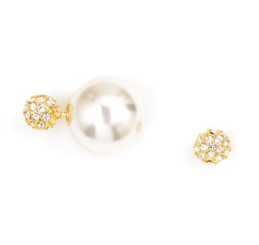 Saturday Night Fever Earrings in Pearl